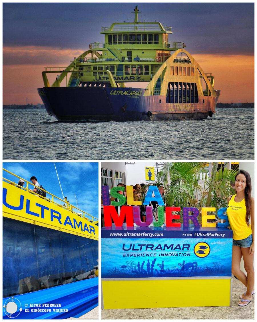 Emocionados vamos rumbo a Isla Mujeres en el Ferry de Ultramar ©Aitor Pedrueza