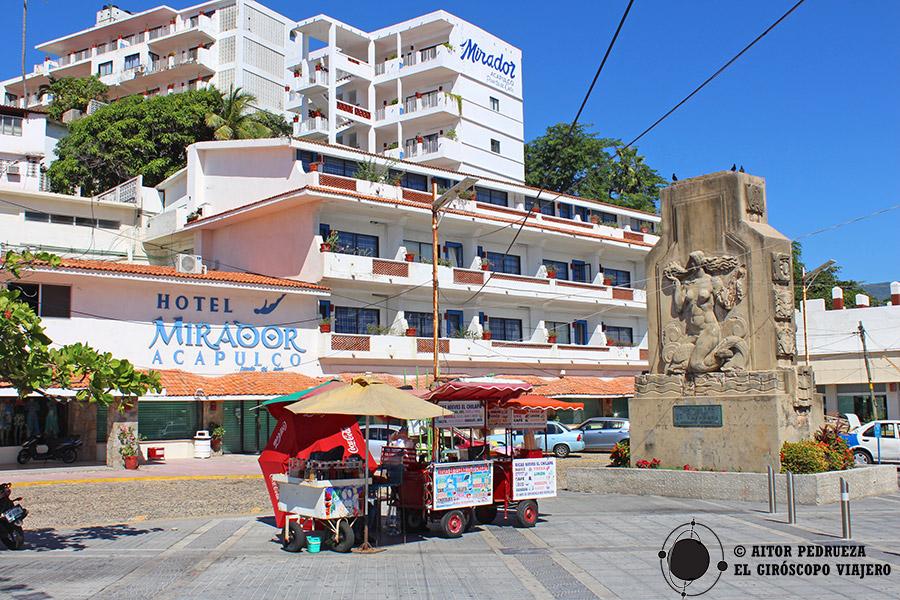 Aparcamiento en la Quebrada frente al hotel Mirador