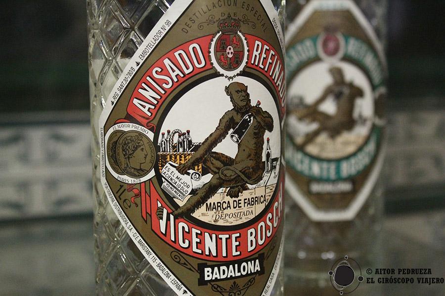 Etiqueta de la botella de Anís del Mono
