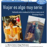 El turismo es algo muy serio, charla sobre turismo y viajes en La Laguna, Tenerife.