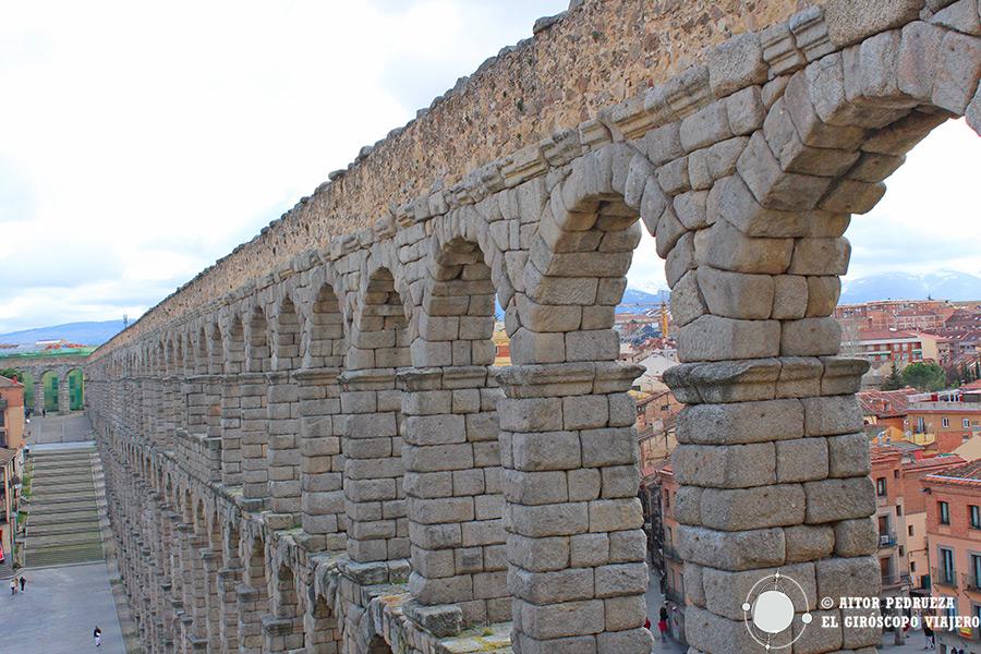 Tramo del acueducto romano de Segovia