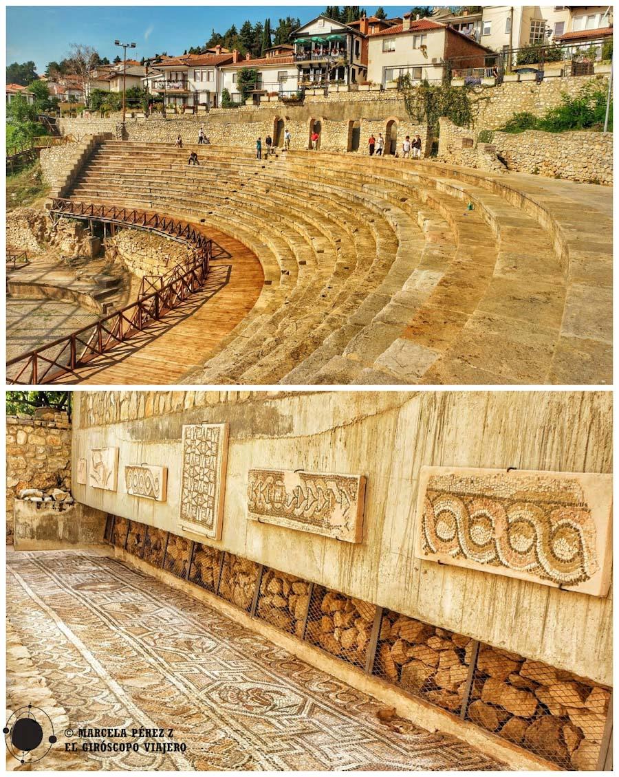 Antiguo Teatro y vestigios romanos hallados en la ciudad de Ohrid ©Marcela Pérez Z.