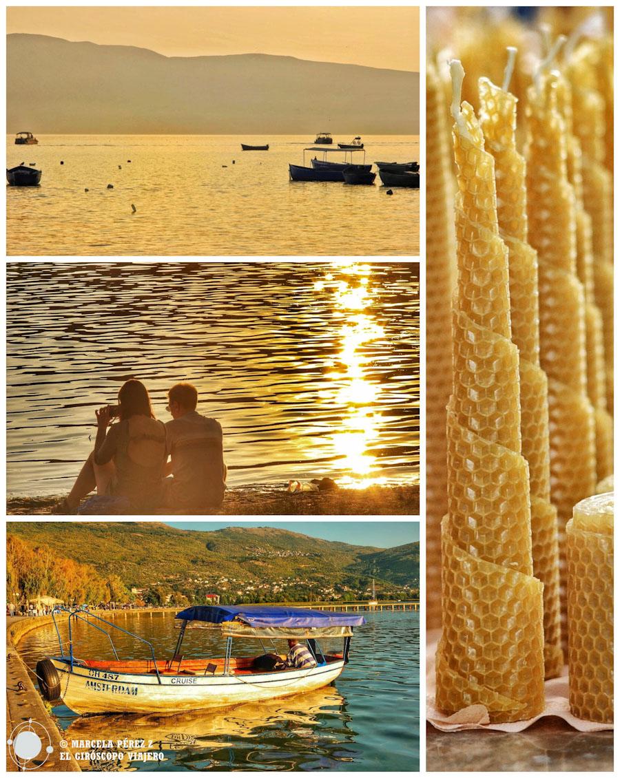 Ohrid, se convierte en oro puro con cada rayo de sol que se posa gentil al baño del atardecer ©Marcela Pérez Z.