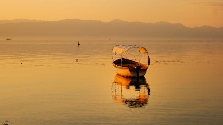 Ohrid, la ciudad macedonia que se tiñe de oro al atardecer