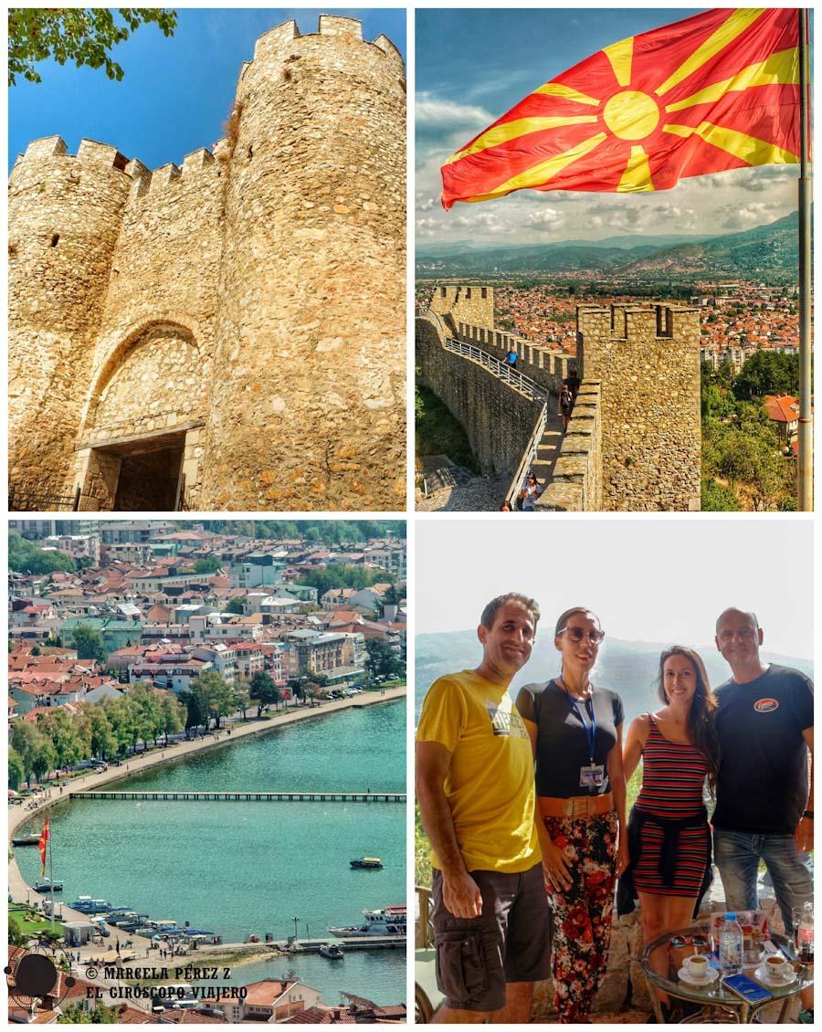 Fortaleza de Tsar Samuel y las vistas de Ohrid desde el Fort Cafe ©Marcela Pérez Z.