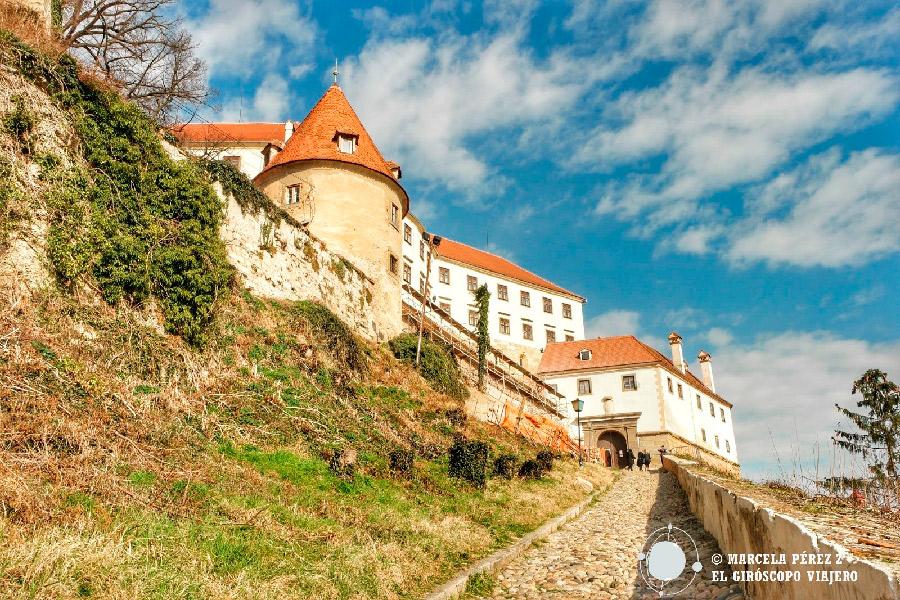 El Castillo de Ptuj en el punto más alto de la ciudad ©Marcela Pérez Z.
