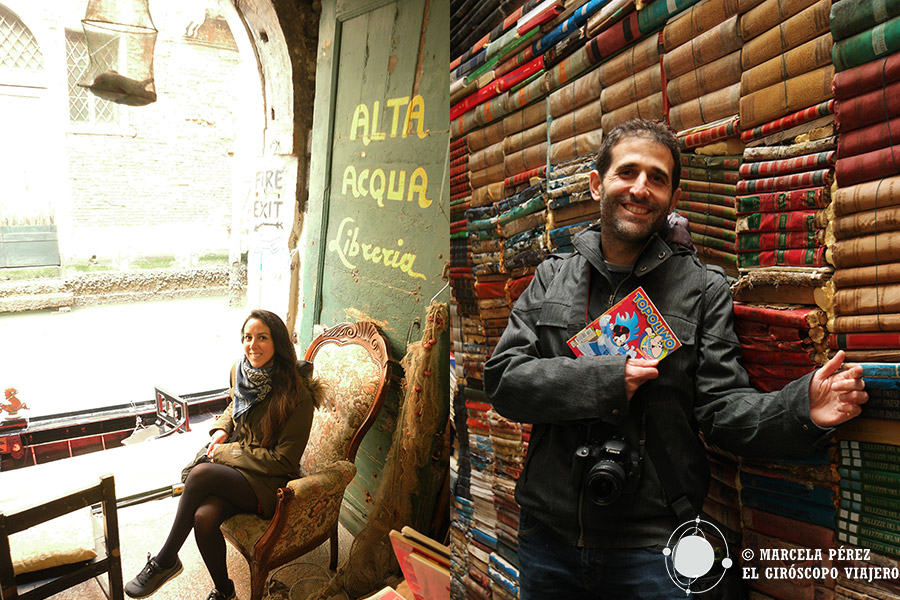 Librería Acqua Alta, templo de libros en Venecia