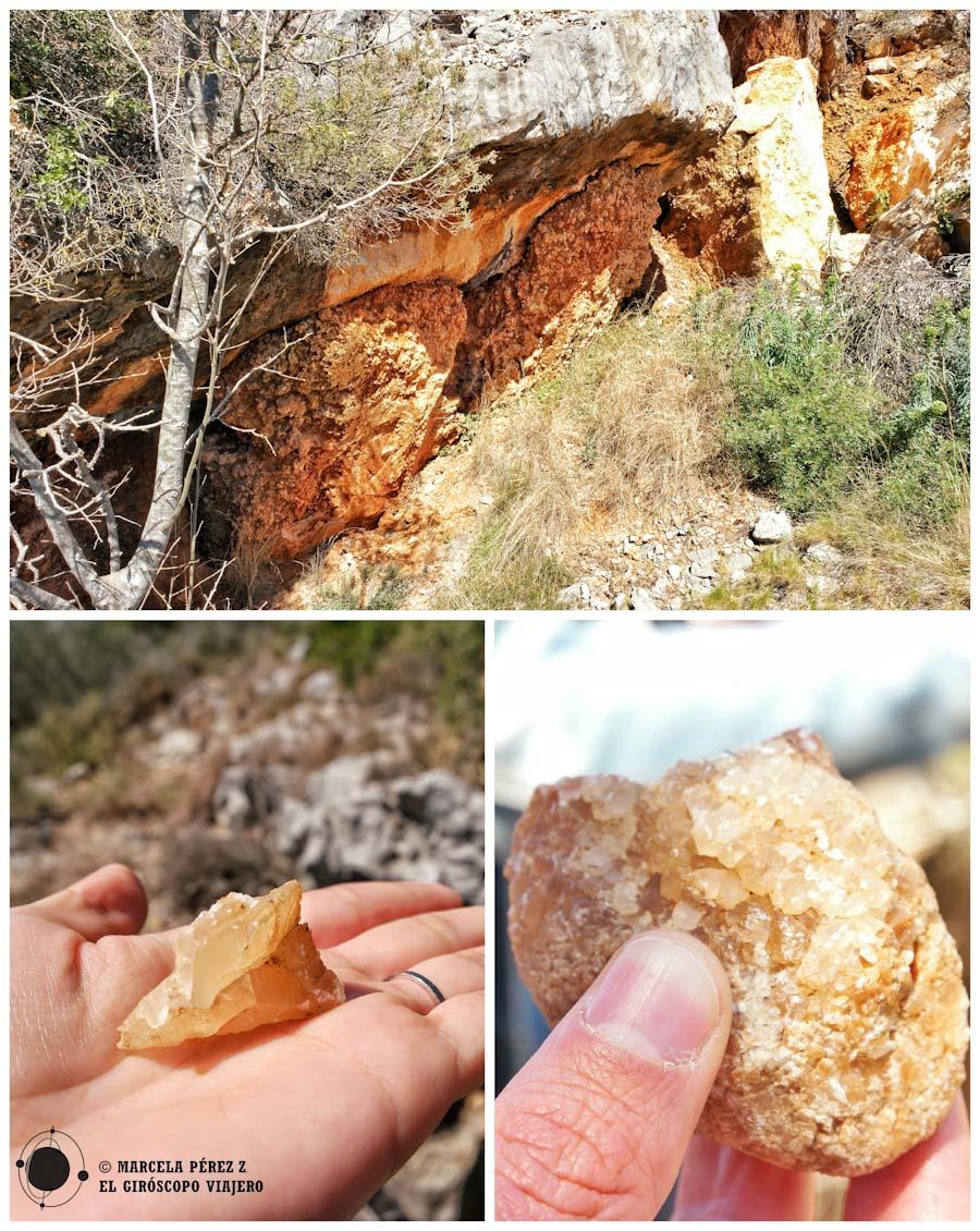Sal de Llop en una mina abierta de Begues