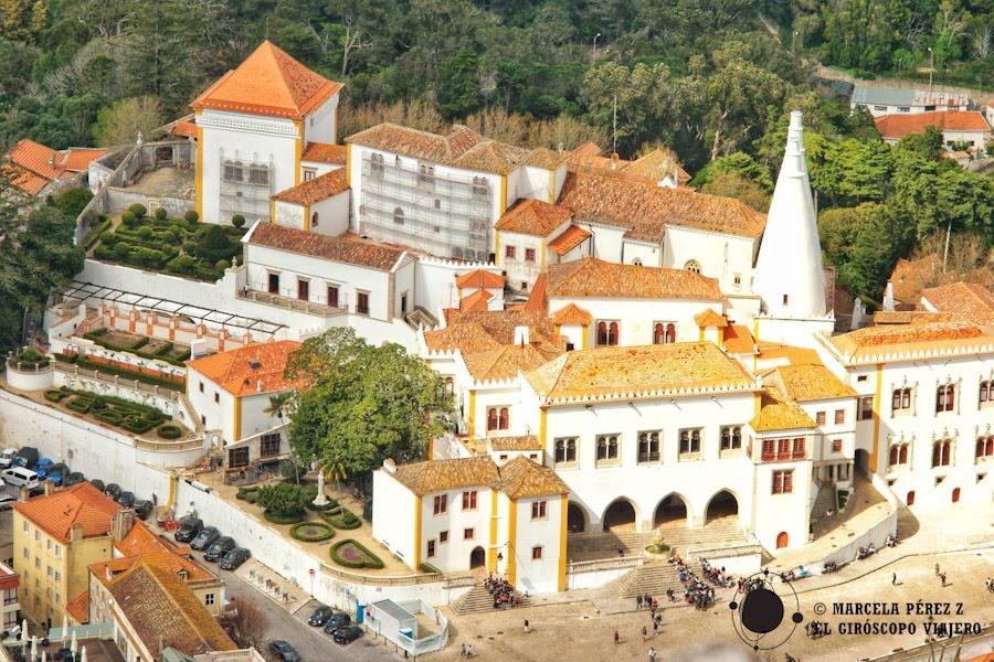 Palacio Nacional de Sintra visto desde el Castillo de los Moros ©Marcela Pérez Z.