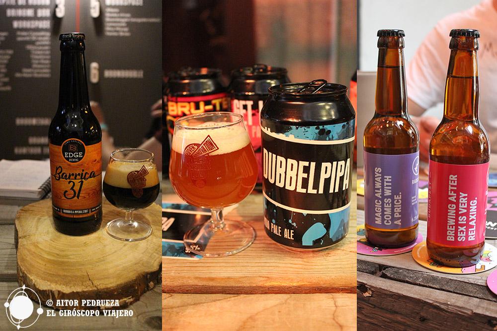 Algunas cervezas del Innovation Beer Festival como Barrica 31 de Edge Brewing, DubbelPipa, West Coast IPA de Bryggverket, o dos propuestas de los húngaros MONYO Brewing Co