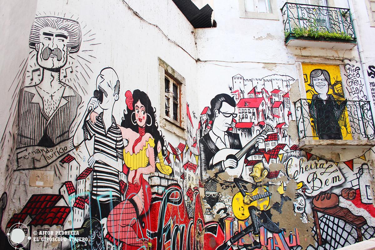 Graffiti de las Escadinhas de São Cristovão en la Alfama