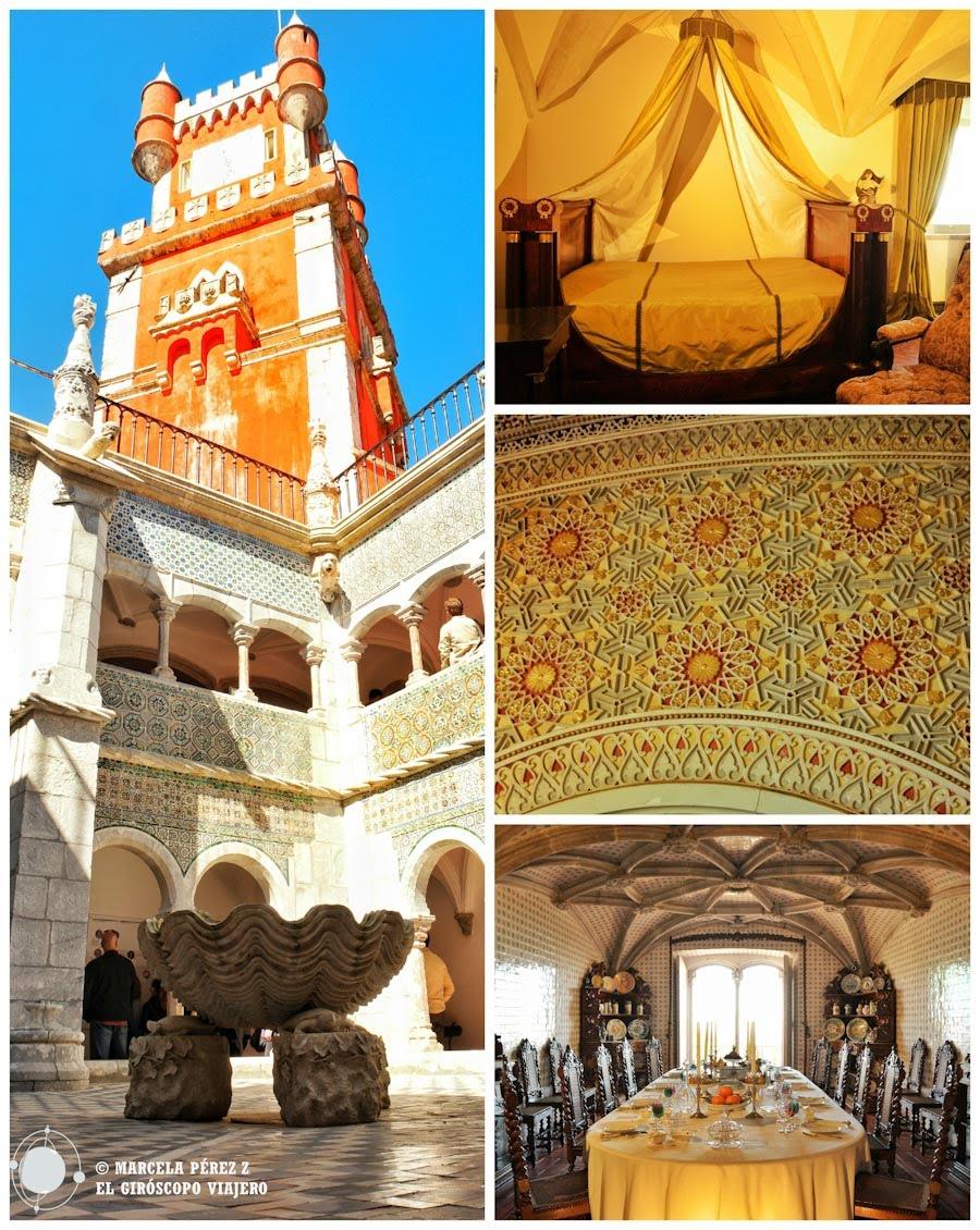 Claustro y distintas habitaciones del Palacio de la Pena ©Marcela Pérez Z.