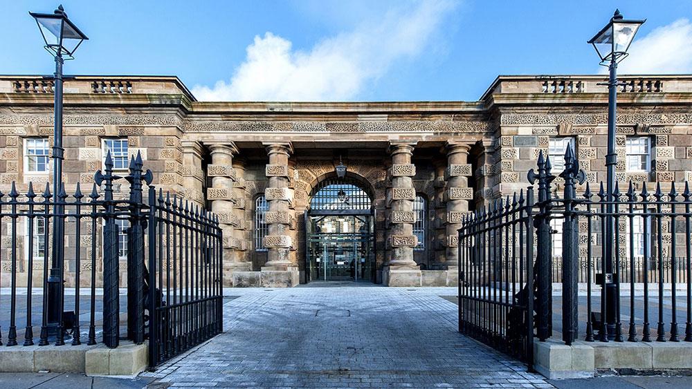 Entrada a la prisión Crumlin Road Gaol