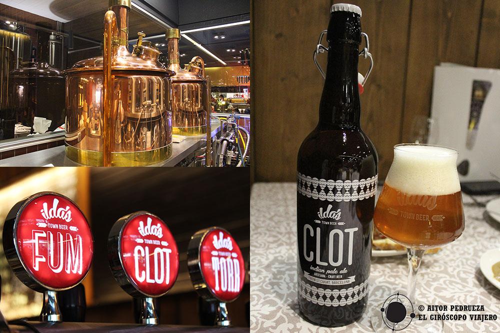 Cervezas Ilda'es. Visitamos la cervecería dentro del restaurante Xarlot