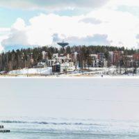 Jyväskylä cuando acaba el invierno, La región de los lagos de Finlandia.