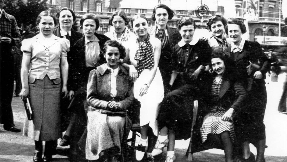 Las Mamás Belgas en Barcelona a su llegada como voluntarias