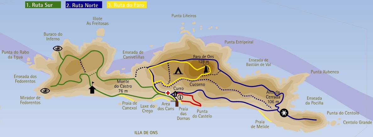 Isla De Ons Mapa.Un Paseo Por La Isla De Ons Dentro Del Parque Nacional De Las Islas Atlanticas De Galicia