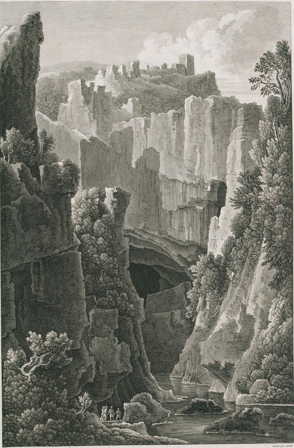 Grabado de Skocjan de Louis-François Cassas