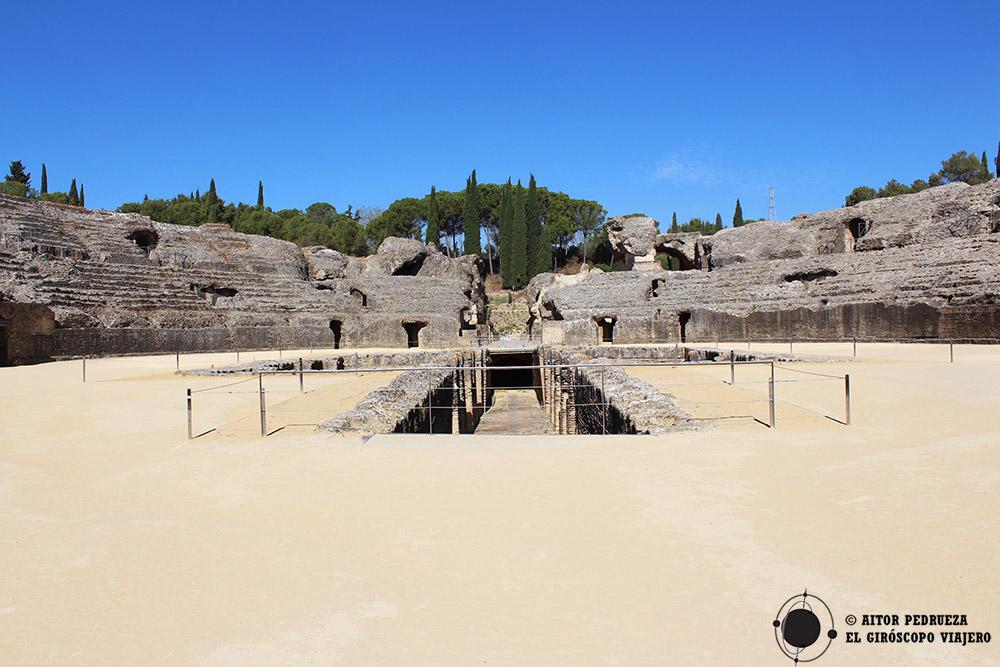 Anfiteatro de la ciudad romana de Italica en Santiponce