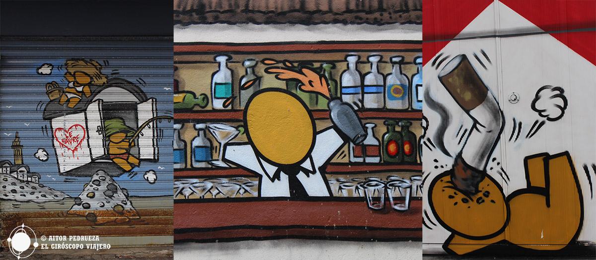 Graffitis de Jace en diferentes puntos de Le Havre