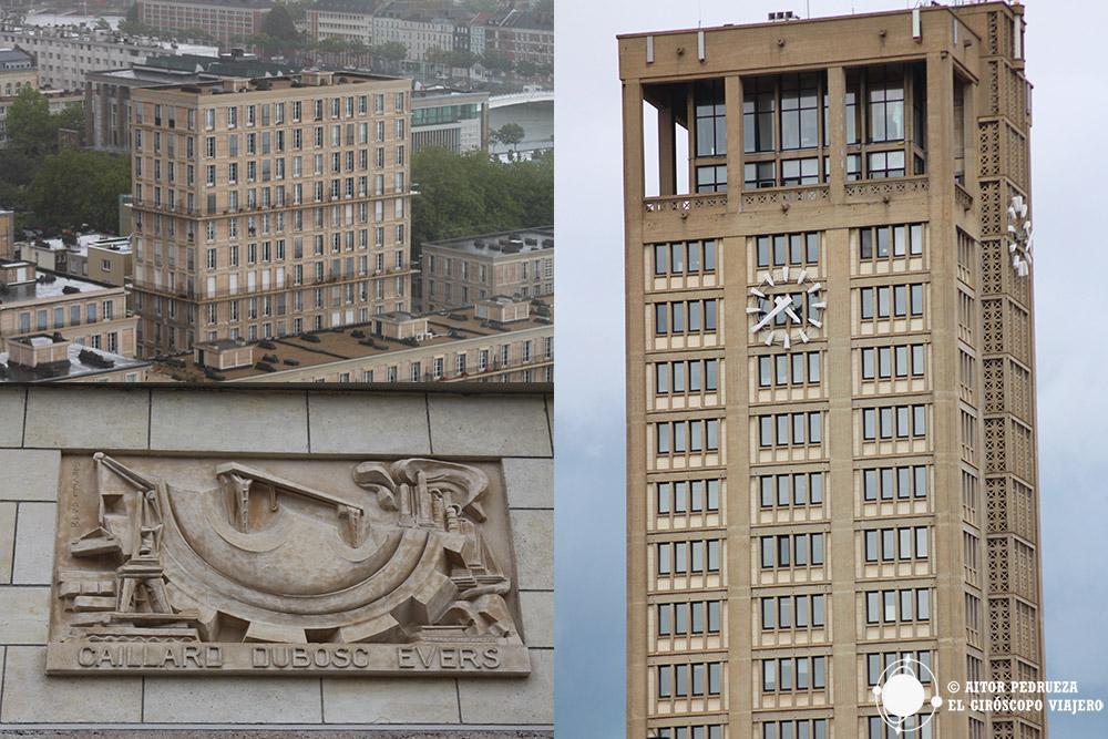 Detalles de la ciudad que forman parte del conjunto de Perret, patrimonio de la Humanidad