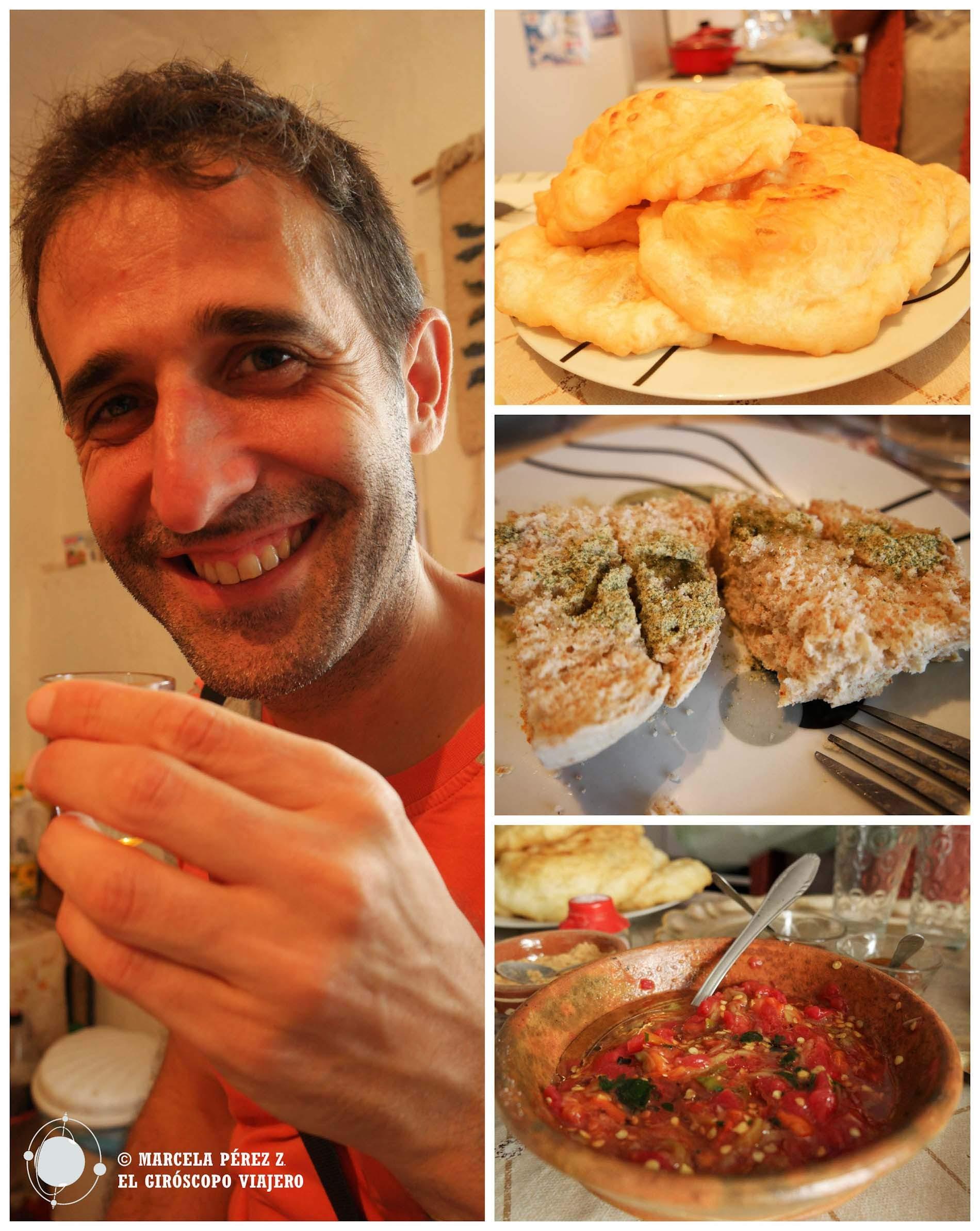 Degustando los sabores caseros de Macedonia en la cocina de Valentina ©Marcela Pérez Z.