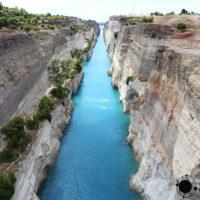 Contando barcos en el Canal de Corinto de Grecia