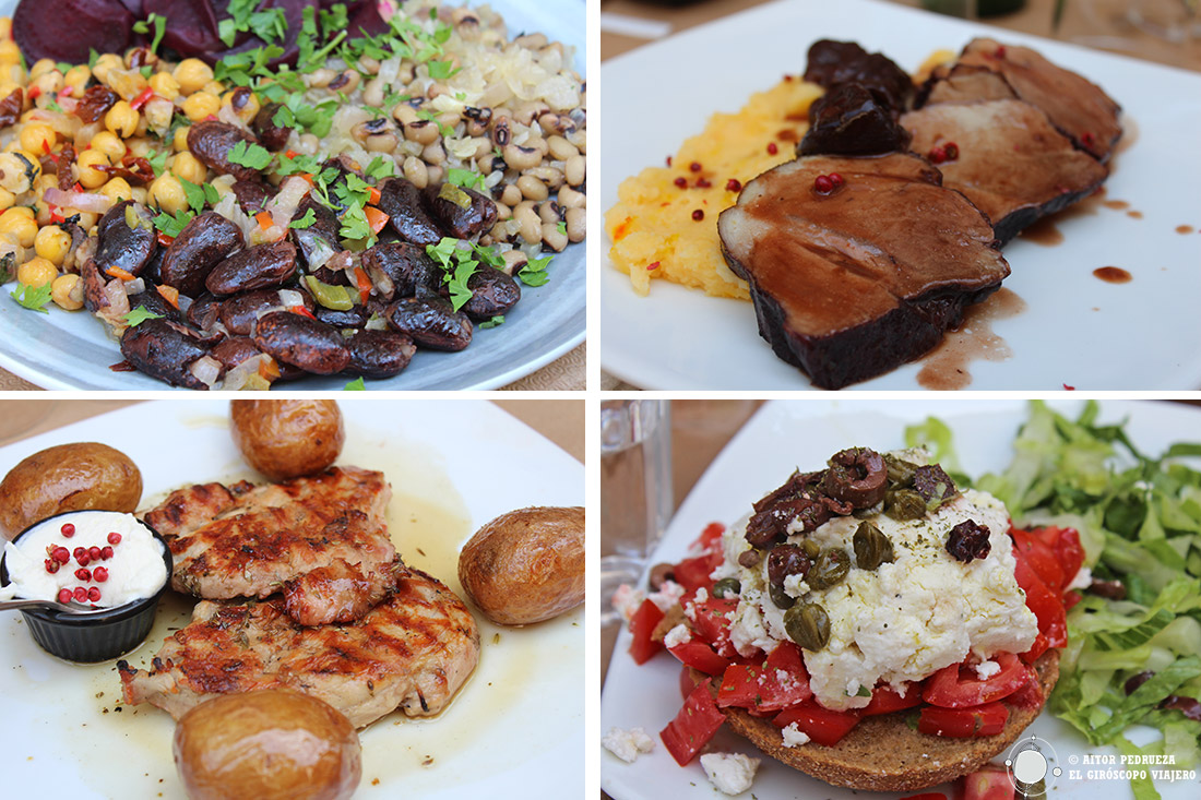 Platos de la gastronomía de Peloponeso
