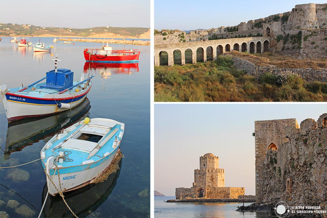 Puerto y castillo veneciano de Methoni