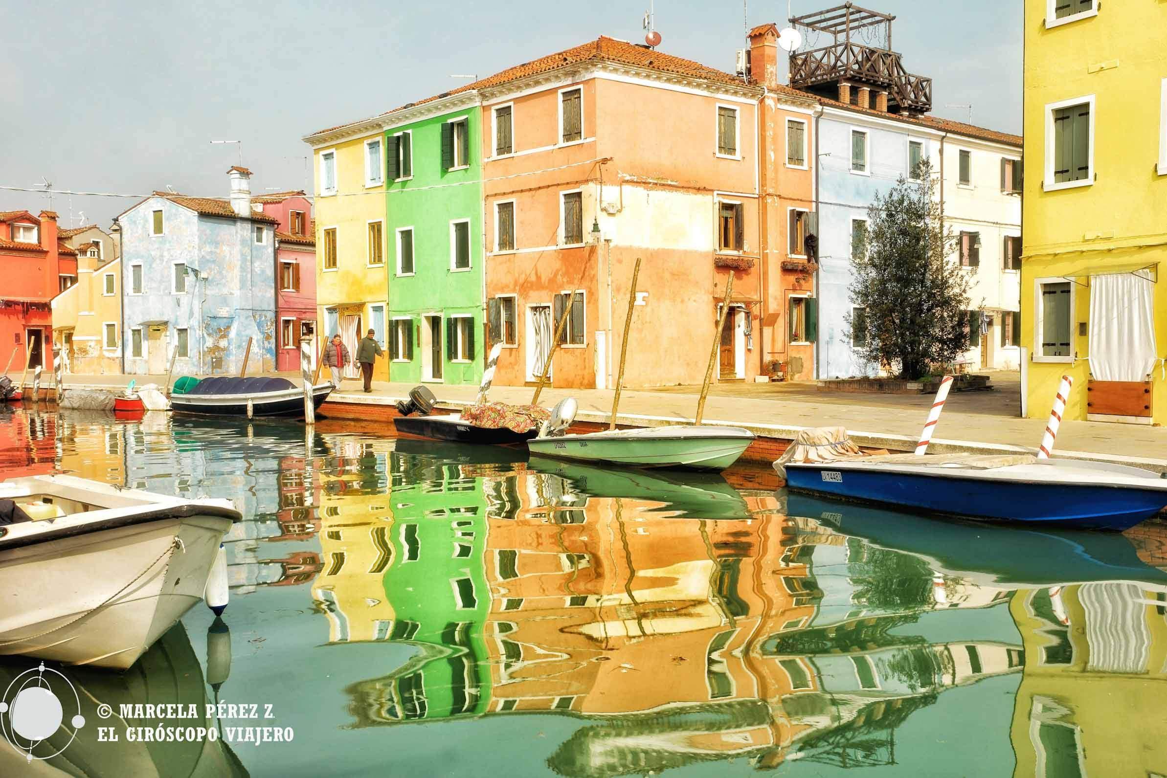 El colorido de las casas de Burano es un regalo para la vista ©Marcela Pérez Z.