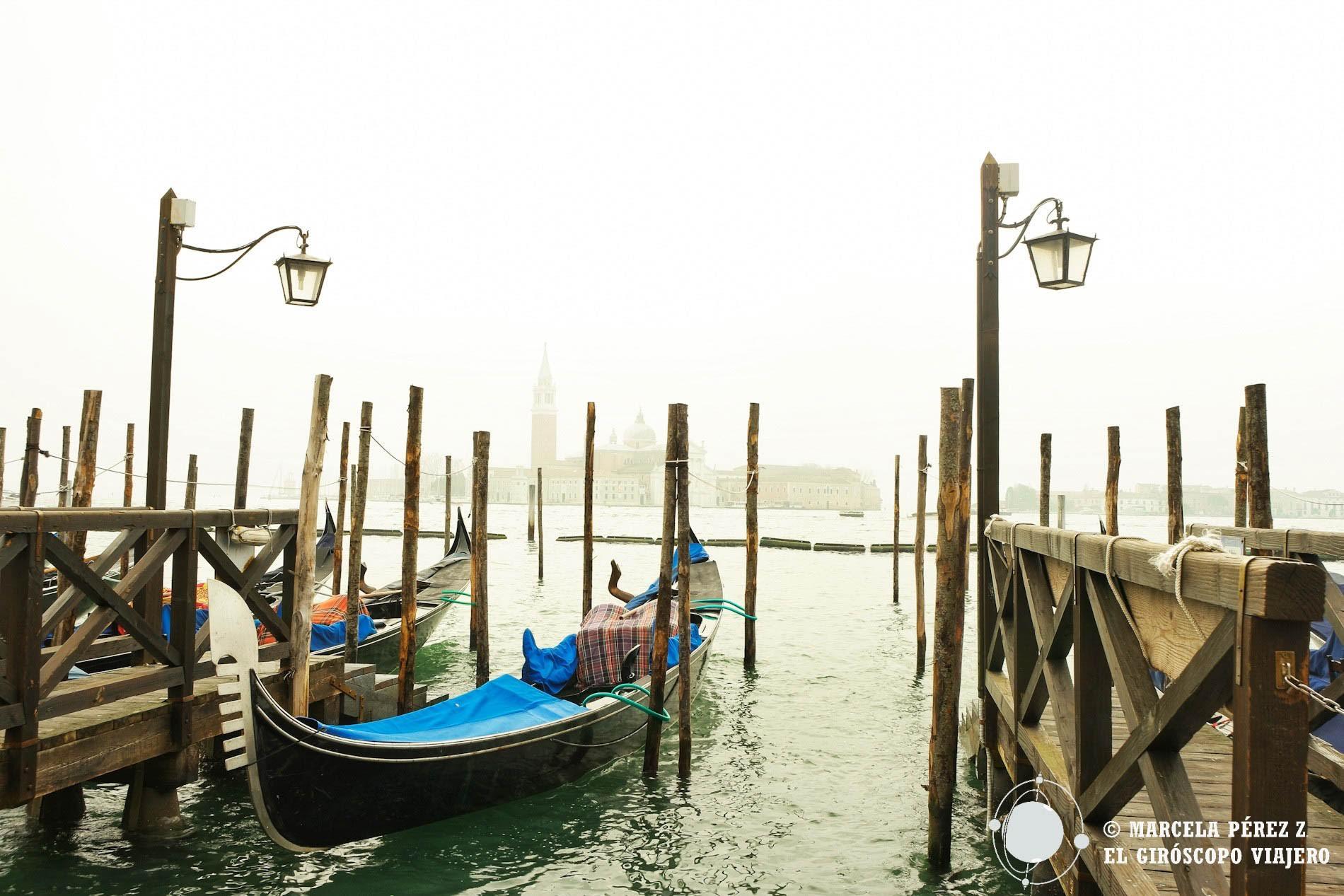 El paisaje brumoso de una mañana invernal en Venecia ©Marcela Pérez Z.