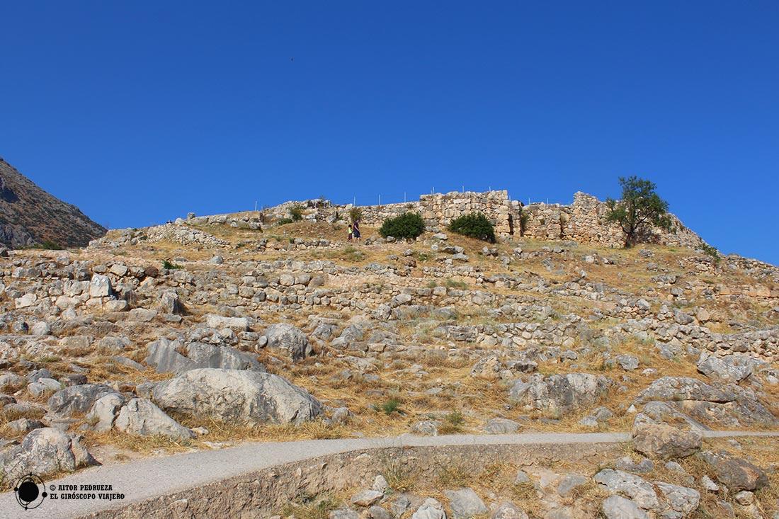 Acrópolis de Micenas, ubicación del palacio