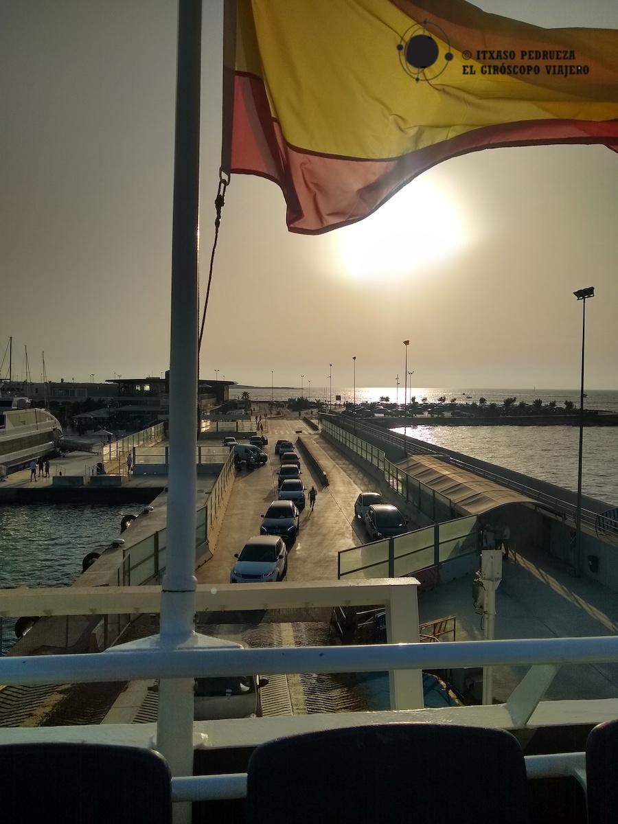 Llegada al puerto de la isla de Formentera