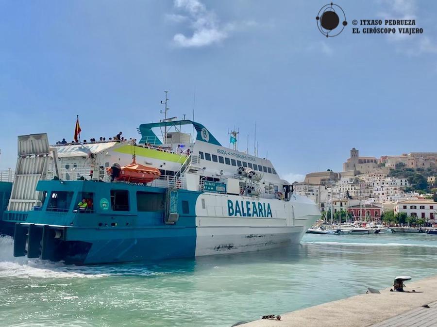 A bordo del ferry Formentera Direct