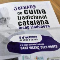 Presentación de la primera jornada de Cocina Tradicional Catalana Josep Lladonosa en Sant Vicenç dels Horts