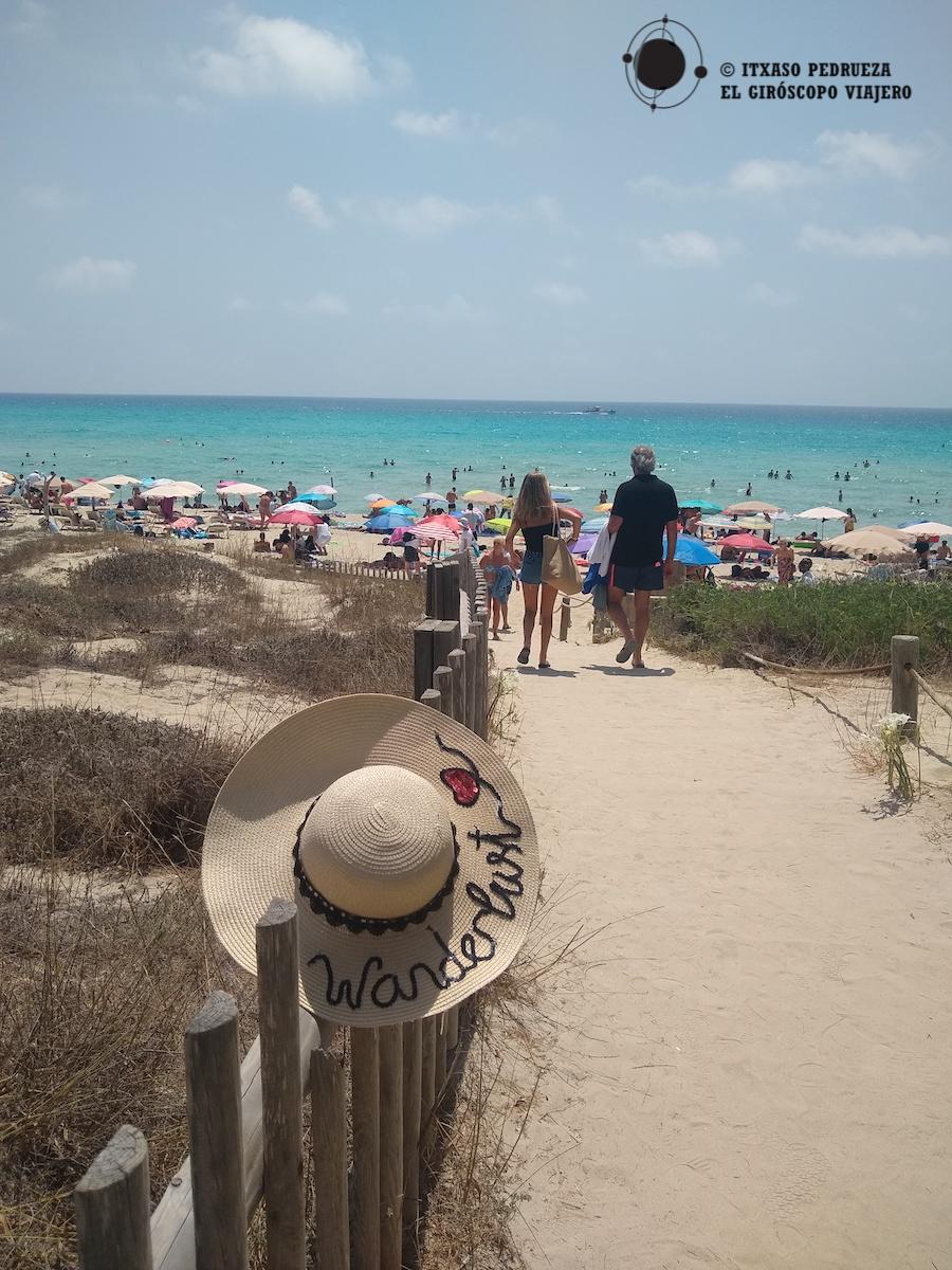 Playa Migjorn en Formentera