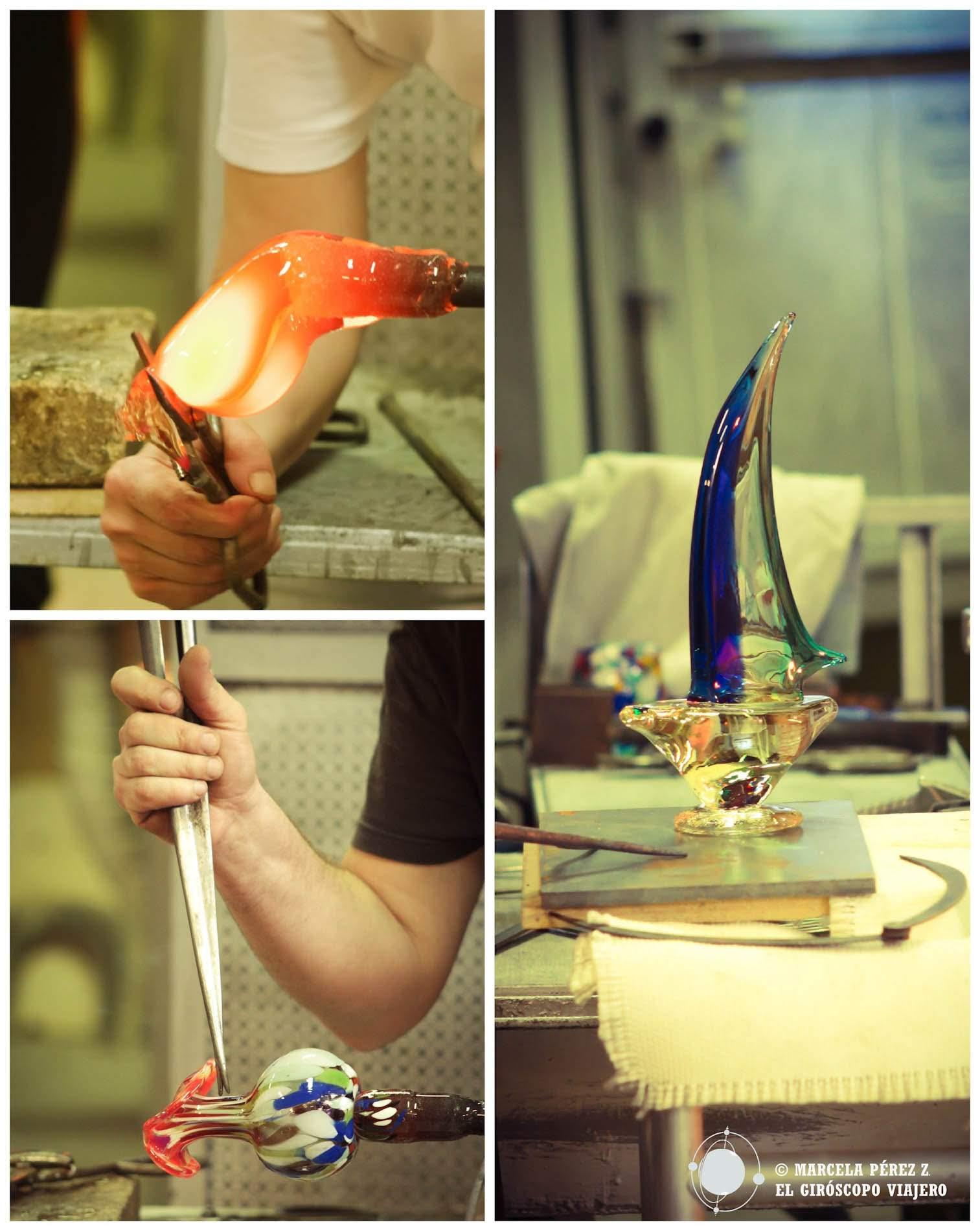 Murano y sus piezas de arte de vidrio soplado ©Marcela Pérez Z.