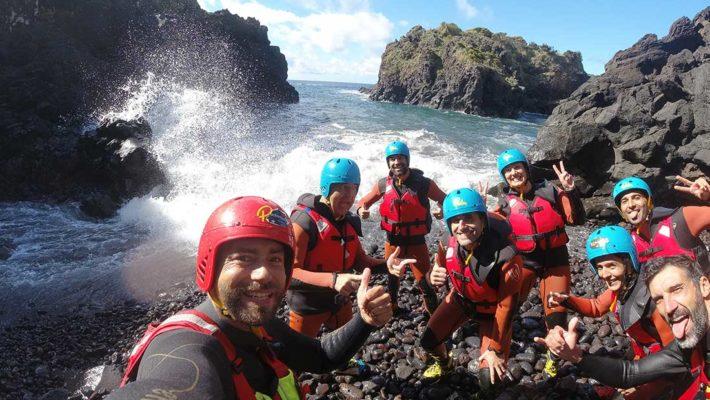Coasteering en la isla de Sao Miguel de Azores
