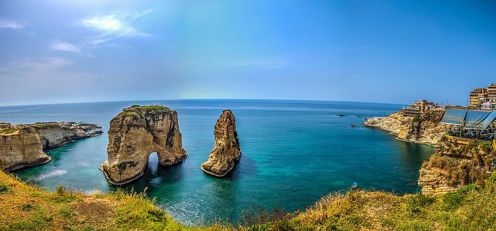 Farallones de Raouchè en la costa de Líbano