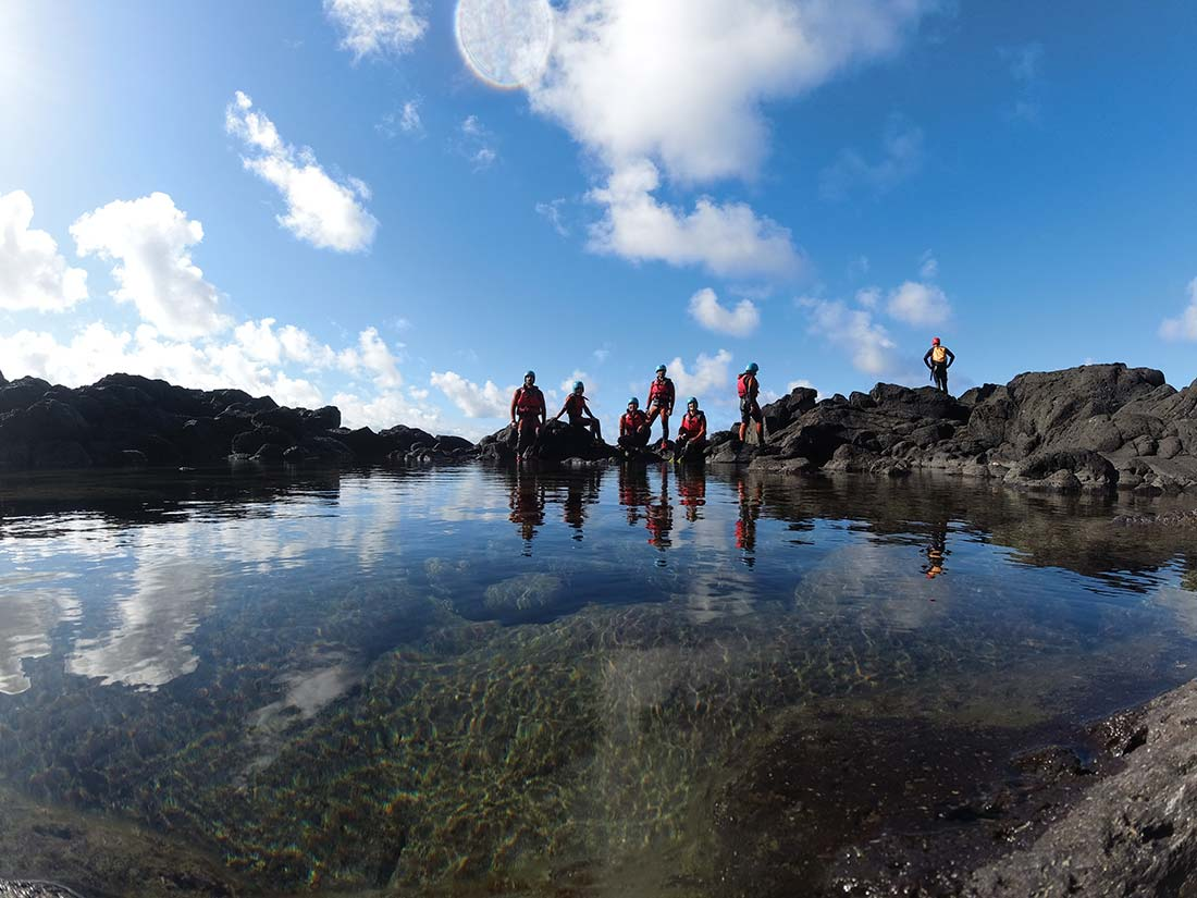 Ruta del Coasteering en la isla de Sao Miguel
