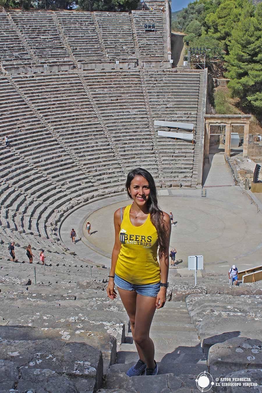 El impresionante teatro de Epidauro