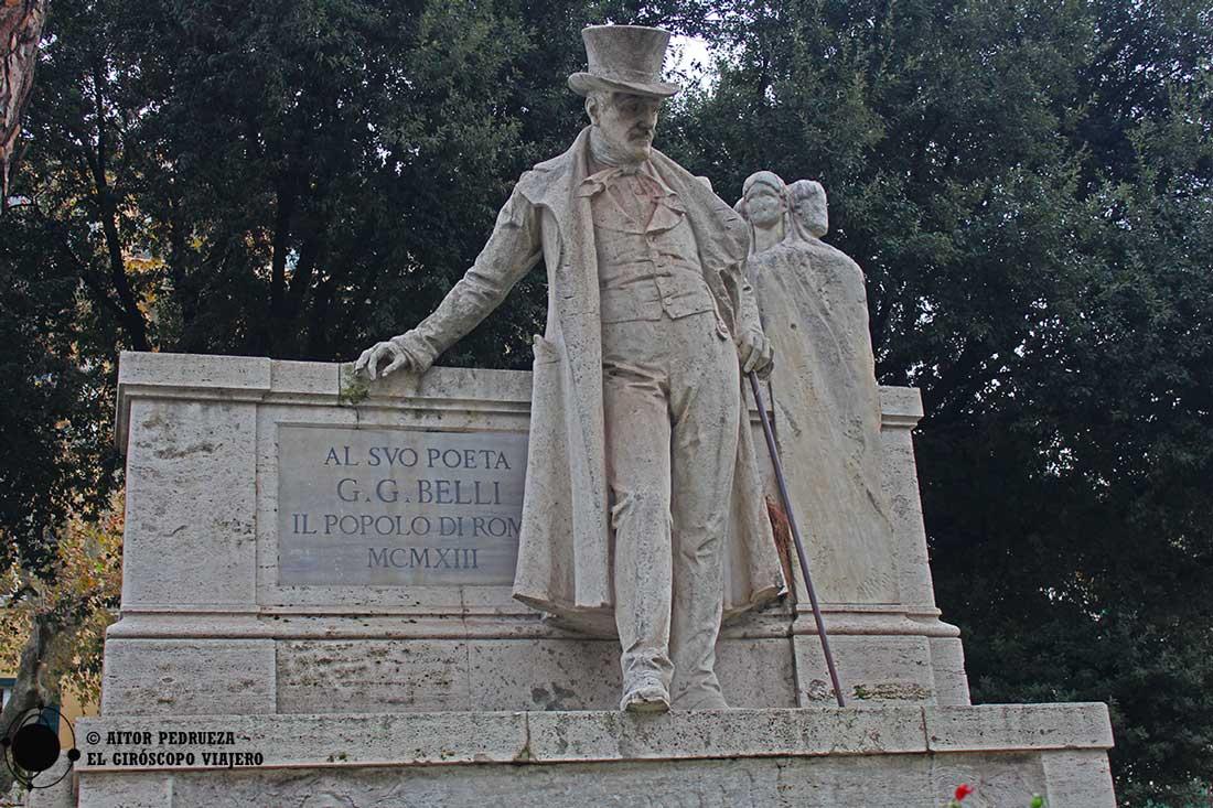 Estatua de G. Belli en el Trastevere