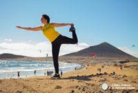 Ascenso a la Montaña Roja desde el Médano. Corriendo por un cono volcánico en Tenerife