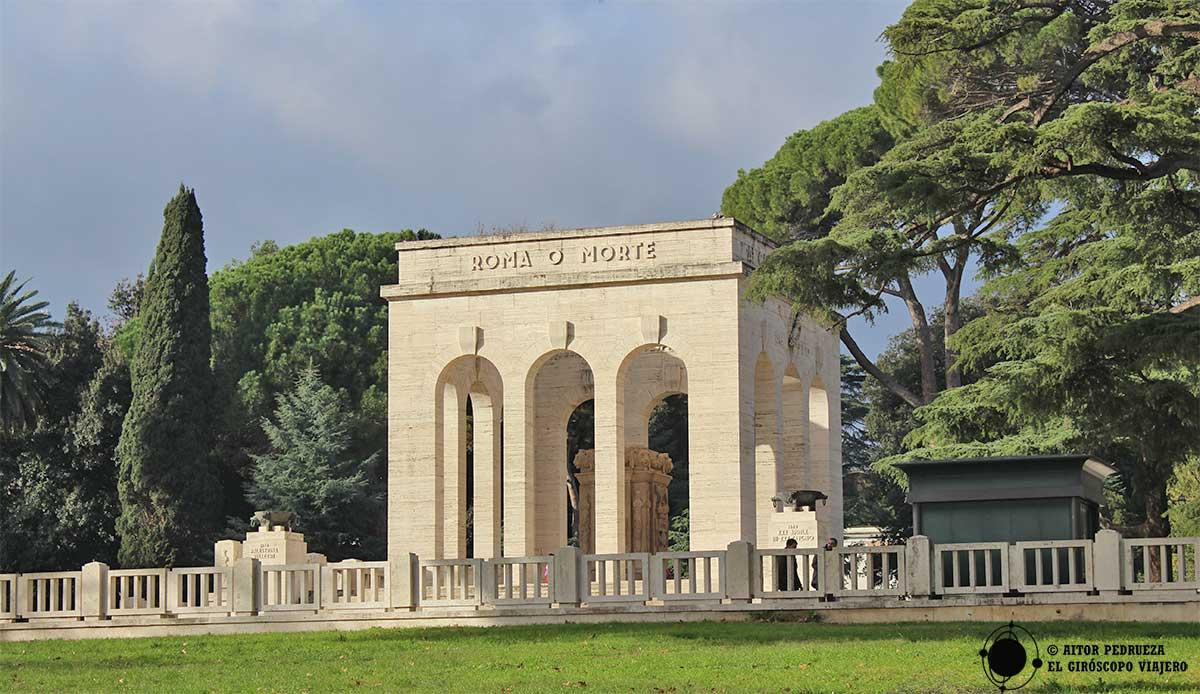 Osario de Garibaldi encima del Trastevere