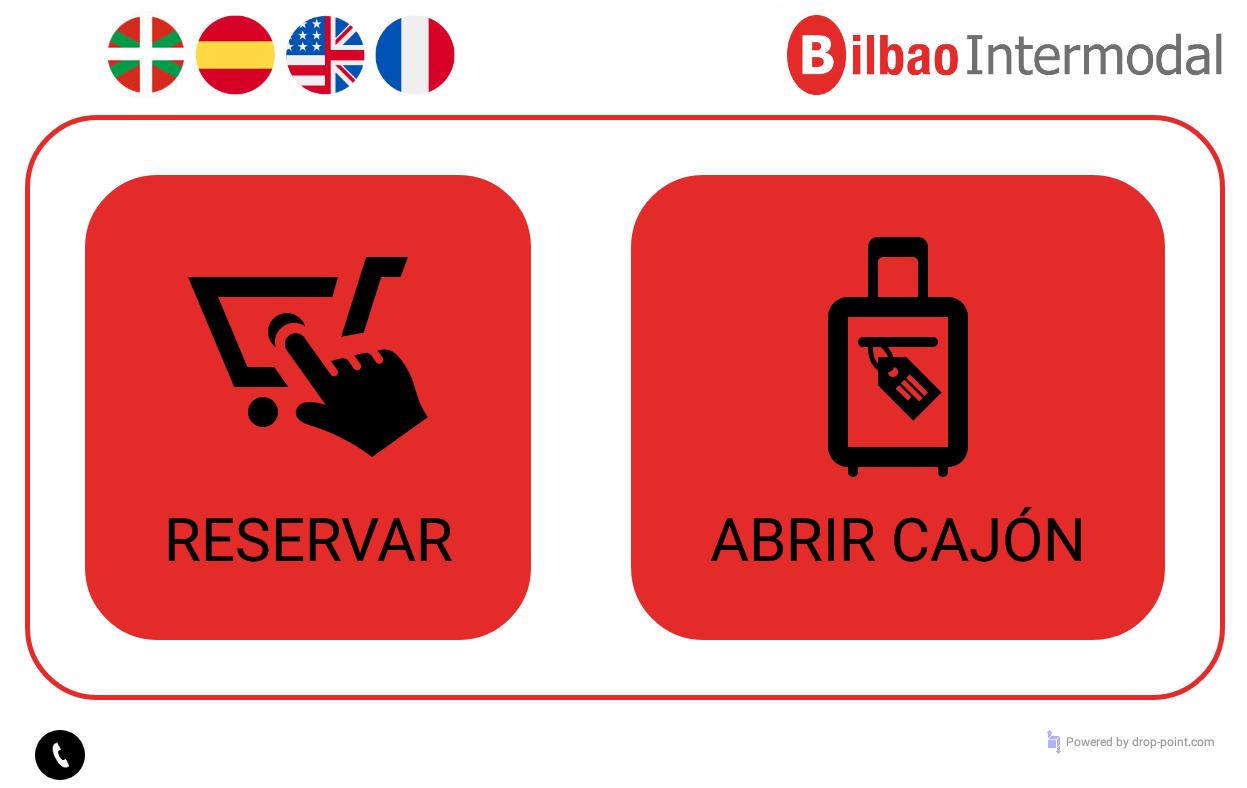 Opciones del sistema automático de las consignas de la estación intermodal de Bilbao