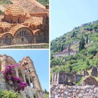 Ruinas de la ciudad bizantina de Mystras en Grecia