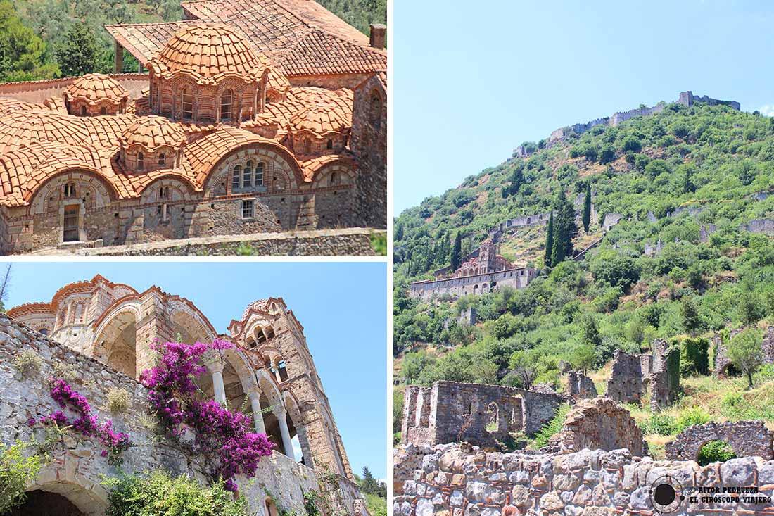 Ciudad bizantina de Mystras en Grecia