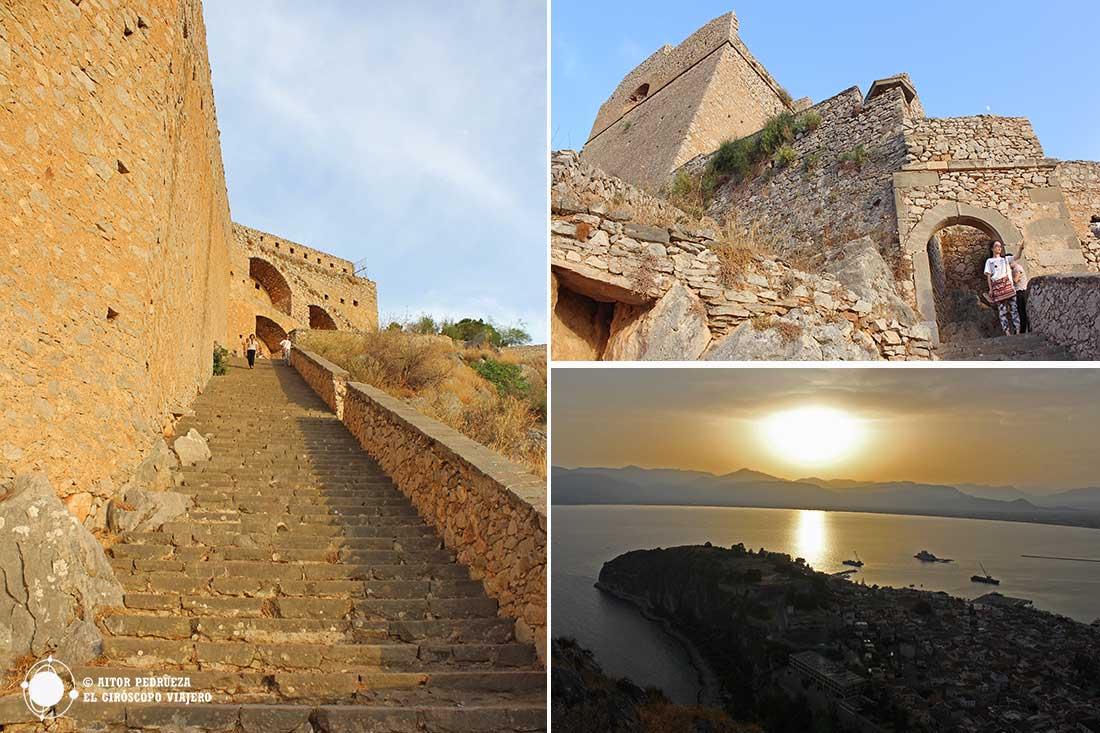Ascenso a la fortaleza de Palamides en Nauplio
