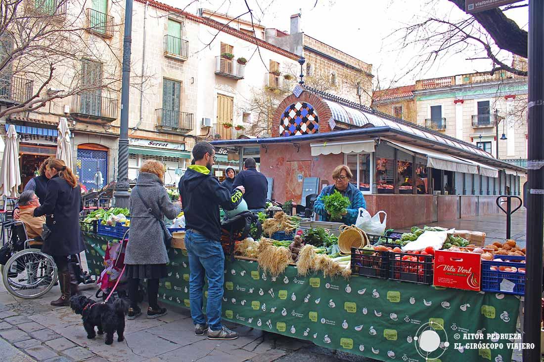 Mercat de la Plaça Gran, uno de los mercados de Mataró.