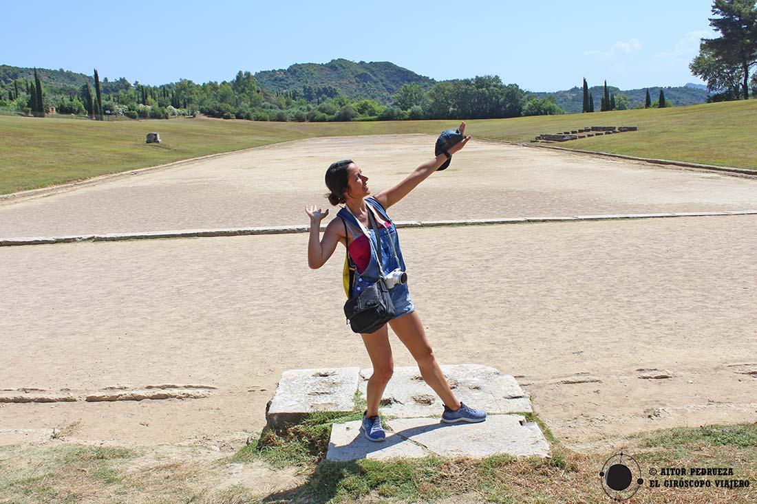 Emulando a los atletas de Olimpia